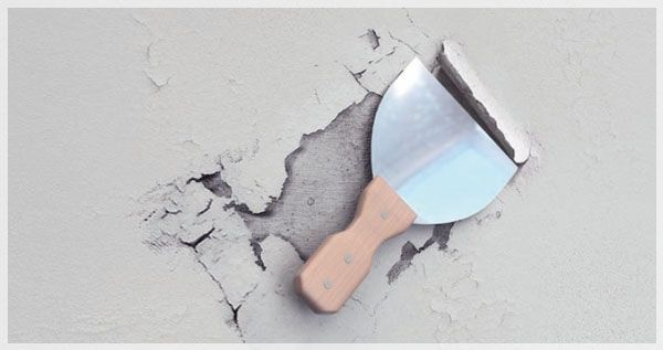 Removing old coatings with spatula